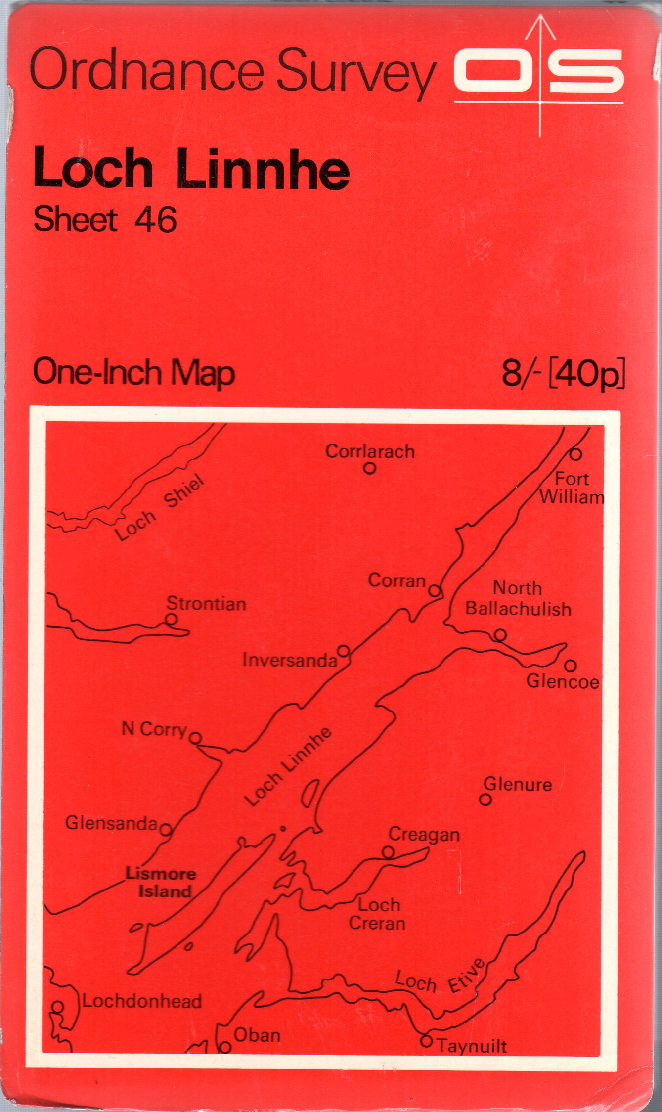 Image for Ordnance Survey  One-Inch Map of Great Britain Sheet 46 Loch Linnhe
