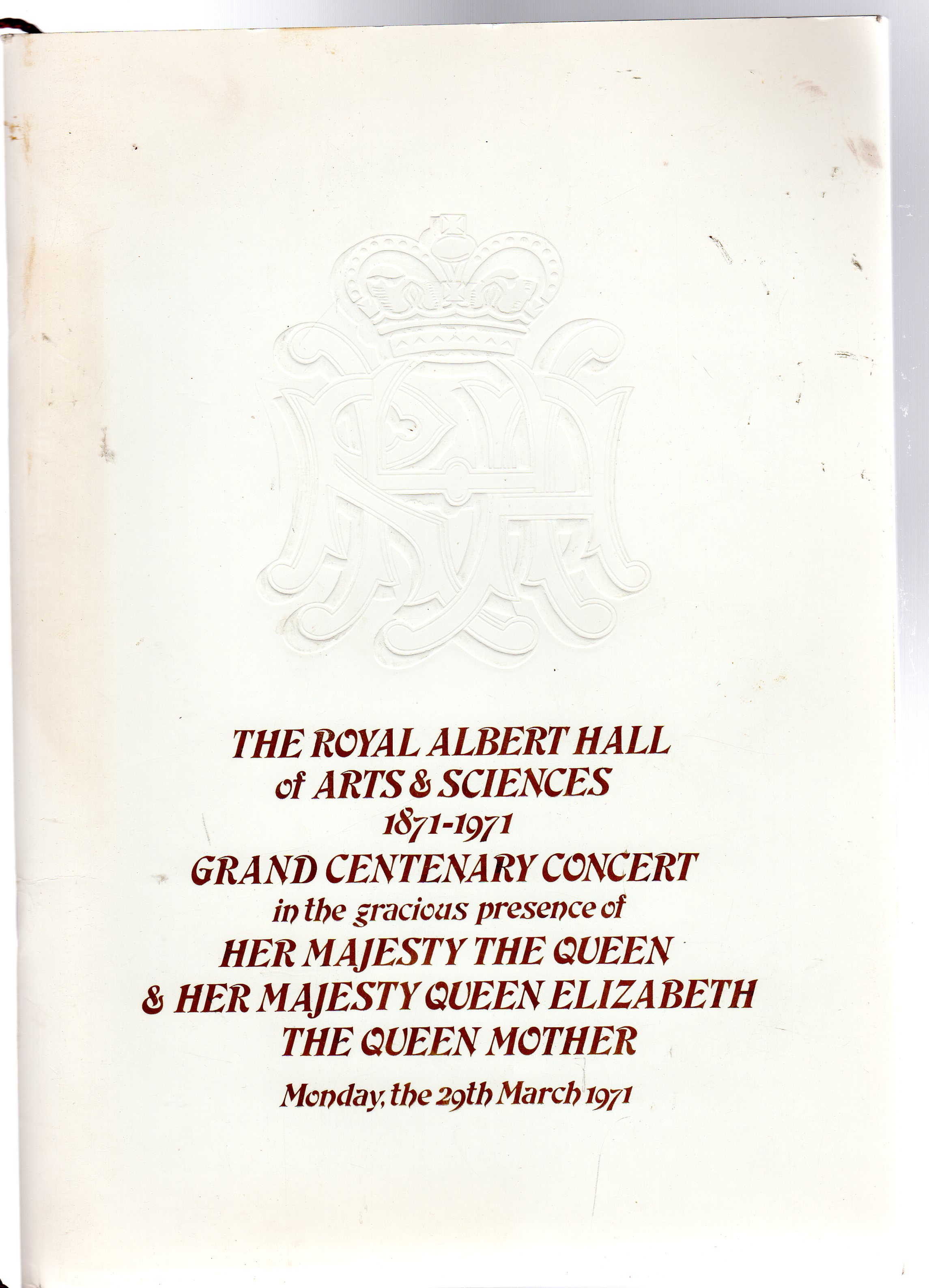 Image for Grand Centenary Concert  (PROGRAMME)