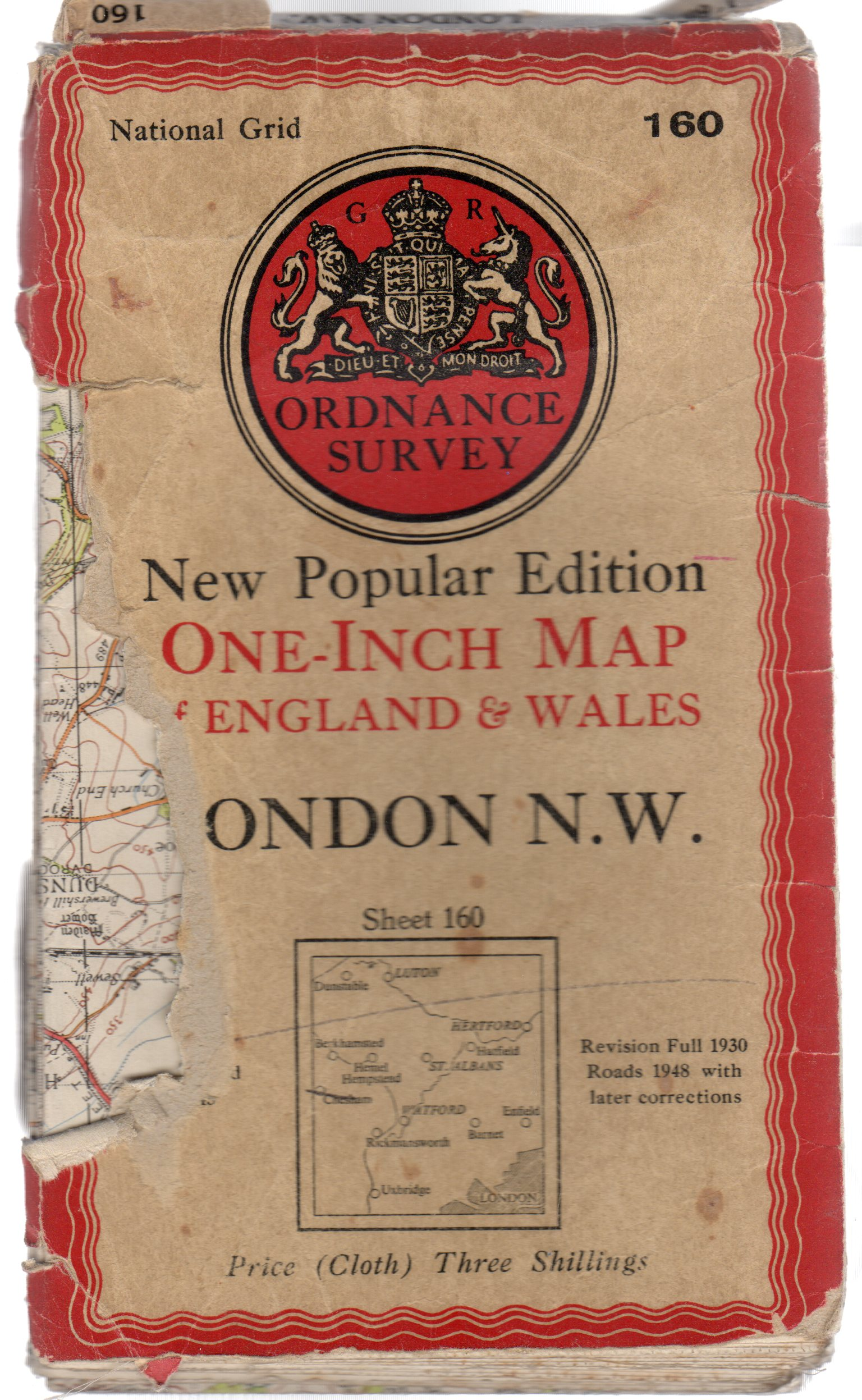Image for Ordnance Survey New Popular Edition One-Inch Map of England & Wales - Sheet  160 London N.W.
