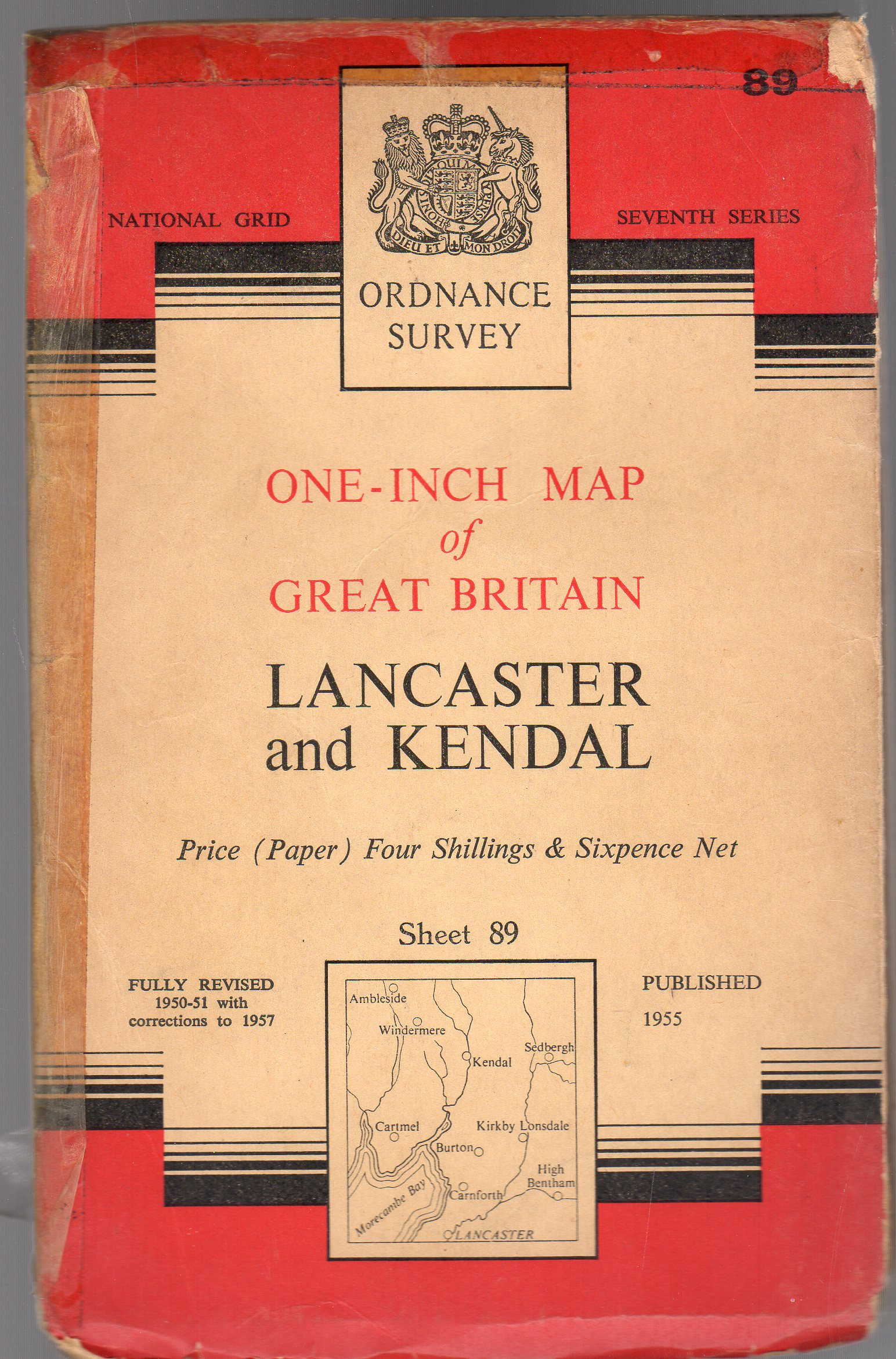 Image for Ordnance Survey  One-Inch Map - Lancaster & Kendal - Sheet 89