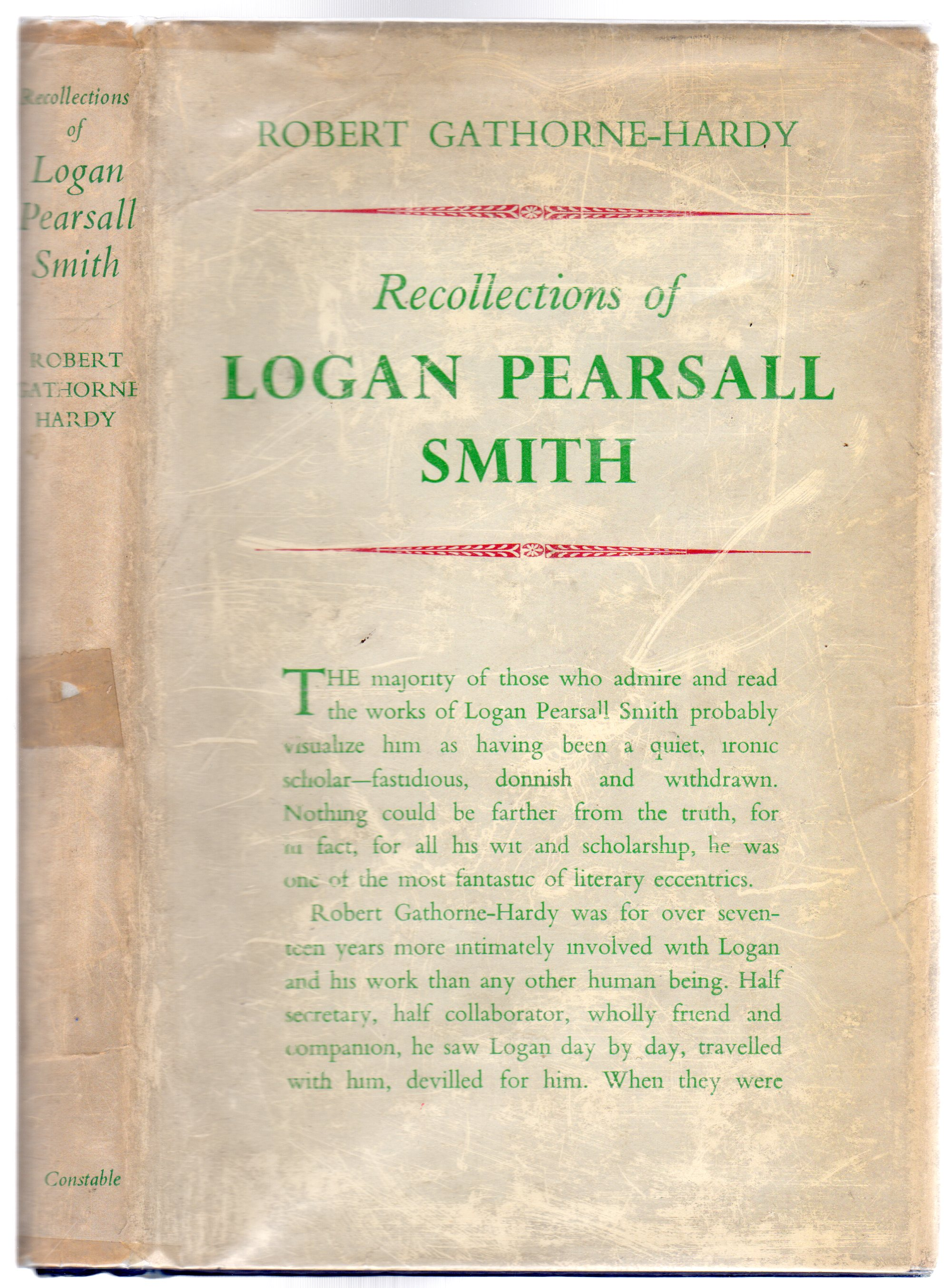 Image for Recollections Of Logan Pearsall Smith